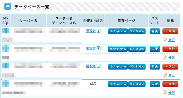 PHP5.4対応の項目