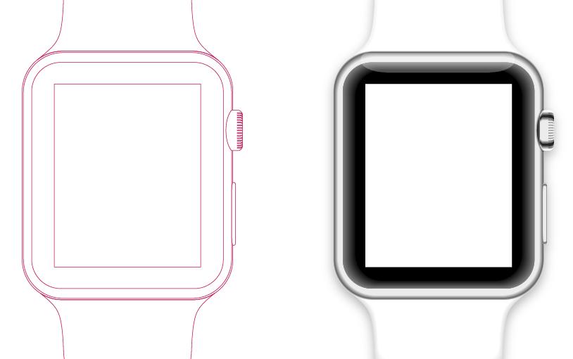 無料ベクター素材その3)Apple Watch vector graphics