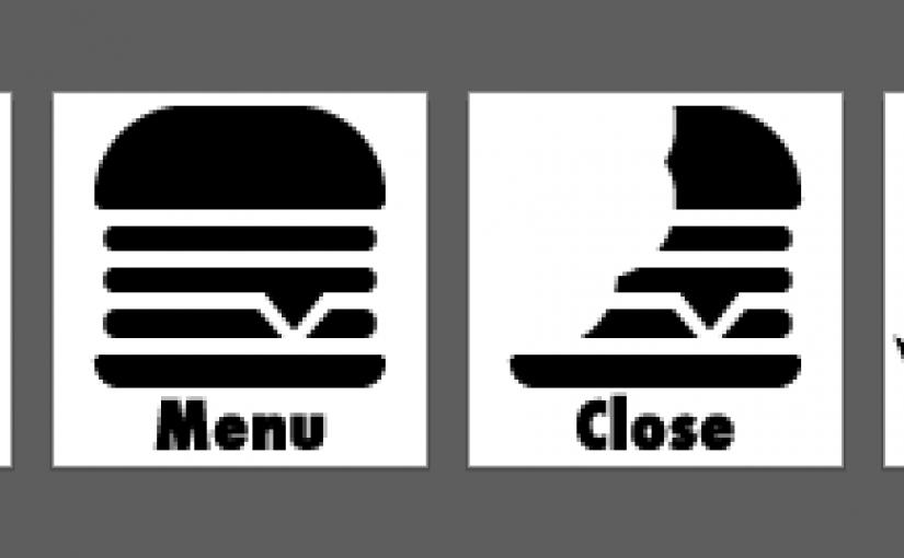 無料ベクター素材その4)ハンバーガーの形のハンバーガーメニュー